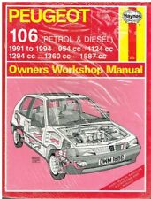 PEUGEOT 106 1.0 1.1 1.3 1.4 1.6 PETROL (1991-94) OWNERS WORKSHOP MANUAL