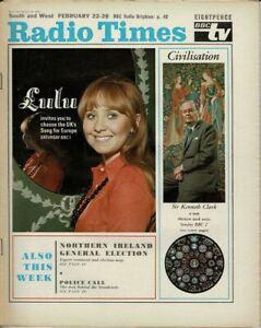 Radio Times Magazine Lulu Cover Photo 1969 BBC TV Listings Vintage Rare