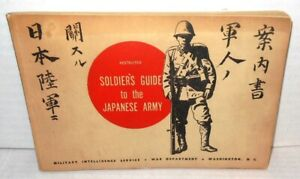 Soldier's Guide to the Japanese Army op 1944 MIS US War Department RESTRICTED op
