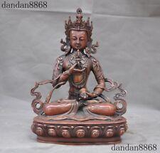 Old Tibet purple copper Buddhism joss Vajrasattva Tara Guanyin Buddha God Statue