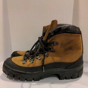 Danner Men's Combat Hiker 43513X Brown Leather Vibram Hiking Boots 6.5 M/8 W EUC