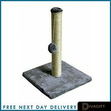 Cat Scratching Post Bed Activity Centre Toys Grey Sisal Play Scratcher Silver