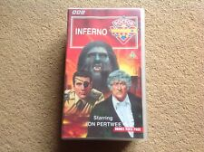BBC DOCTOR WHO Video Cassette Tapes INFERNO Double Rare VHS Box Set JON PERTWEE