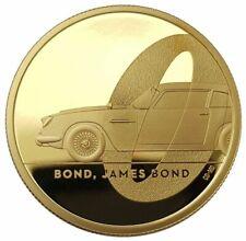 """2020 Queen Elizabeth II """"James Bond 007"""" (999.9) 1/4 oz Gold Proof 3 Coin Set"""