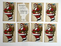 LOT OF 8  CHRISTMAS SANTA CLAUS CYGNET OHIO SAVINGS BANK CO CLUB WAYNE OH ADV.
