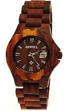 Nicht wasserbeständige Armbanduhren mit Datumsanzeige und Holz