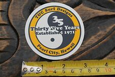 New listing Town n Country T&C Surfboards Hawaii 35 Year Vintage Surfing Decal Sticker