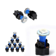 10x T5 PC74 LED Twist Socket Blue Instrument Panel Cluster Plug Dash Light Bulbs