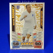 Match Attax England 2014: ROONEY * BRONZE * Limited Edition. RARE. World Cup LE1
