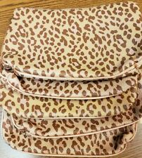 (5) IPSY Leopard Animal Print November 2019 Cosmetic Make-Up Bags ONLY