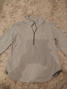 Under Armour Ladies Half Zip Grey Top Size Large good condition