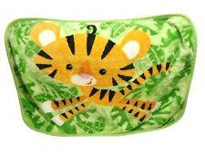 FISHER PRICE Baby Blanket Tiger Green Leaves VHTF Rainforest Orange Cat FP Soft