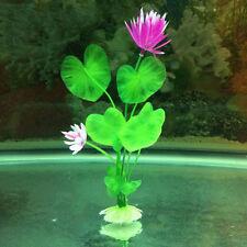 Fish Tank Aquarium Decor Accessories Artificial Water Plant Plastic Lotus