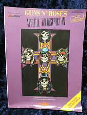 Guns and Roses Appetite for Destruction Guitar Music Book Fold Out Poster