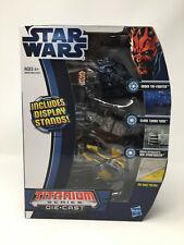 Star Wars Titanium 3 Pack Droid Tri-Fighter Clone Turbo Tank Jedi Starfighter
