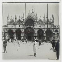 Venezia Place St.Marc Italia Foto Stereo Th2n3 Placca Da Lente Vintage