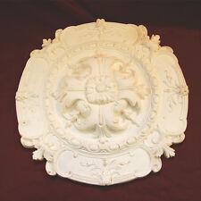 Altamente decorativo REGENT Ceiling ROSE 435mm Dia. belle GESSO. realizzata a mano in Kent