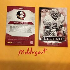 DEION SANDERS #C2 Florida State Falcons Legend Panini 2016 National Convention