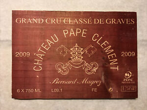 1 Rare Wine Wood Panel Château Pape Clement Vintage CRATE BOX SIDE 3/21 540