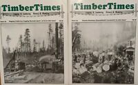 TWO Timber Times Magazines #32 & #34 2004-05 See Photos For Contents Free Shippi