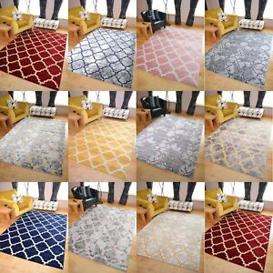 Modern Small Extra Large Soft Quality Trellis Design Floor Carpet Mat Rugs Cheap