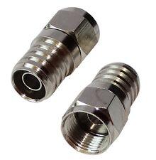 2 Connecteur prise fiche F mâle 6mm pour câble RG59 antenne TV satellite coaxial