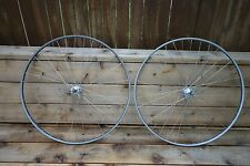 Vintage Mint Campagnolo Nuovo Record Hub Wheelset Fiamme Hard Silver Rim 100/127