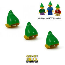 LEGO Elf hats x3 - Turn any figure into a Christmas Elf! - Pack of 3 Elves hats