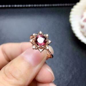 2.20Ct Round Cut Red Ruby Solitaire Engagement Ring 14K Rose Gold Finish