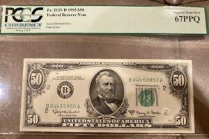 1963A Federal Reserve Note - $50 - PCGS 67 PPQ (Error in description)