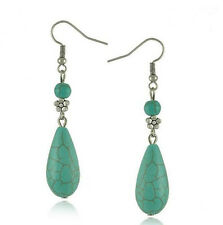 HORSE & WESTERN JEWELLERY JEWELRY LADIES WOMENS TURQUOISE DROP EARRINGS