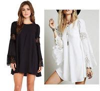 Vestito Copricostume Kaftan Donna Pizzo Mini Dress Woman Cover up Lace 110072