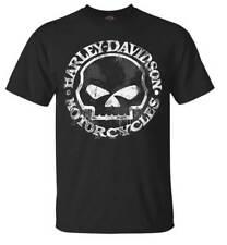 Harley-Davidson Men's T-Shirt, Hand Made Willie G Skull Distressed 30294030