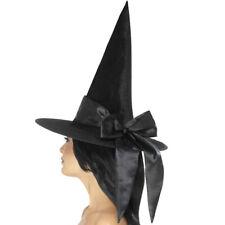 De Lujo Negro Sombrero De Bruja Accesorio Disfraz De Halloween