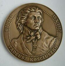 POLISH POLAND AMERICAN HERO KOSCIUSZKO 1794 UPRISING MEDAL bronze