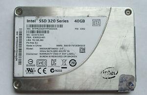 """Genuine 40GB Intel 320 Series SSDSA2BT040G3 2.5"""" SATA SSD Solid State Drive"""