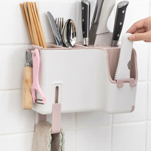 Household Chopsticks Kitchen Wall-mounted Storage Box Punch-free Cutlery Holder