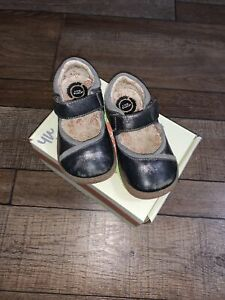Toddler Girl's Size 7 Livie & Luca Tailor Pewter Shimmer Mary Jane Shoes