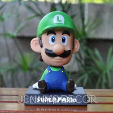 Super Mario Toys Luigi Bobblehead Nodder Figure Shaking Head Doll car Home Decor