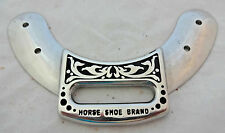 Jeremiah Watt Saddle Hardware Horse Front Cinch Plate Latigo Trim Western Black