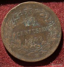 10 CENTESIMI 1862 .VITTORIO EMANUELE II ITALIA MA51