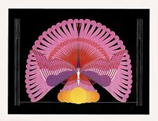 Erte 1987 PHOENIX TRIUMPHANT Egyptian Bird Born Again From Ashes MATTED Print