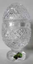 VINTAGE WATERFORD CRYSTAL FOOTED LIDDED EGG CANDY DISH