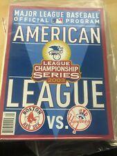 2003 MLB Baseball ALCS Official Program Yankees vs. Red Sox