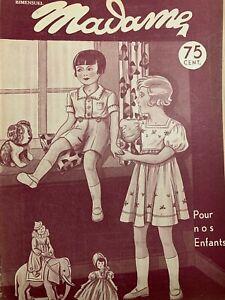 Antique French MADAME Magazine August 24,1933 - Needlecraft - Knitting & crochet