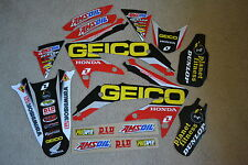 ONE INDSTRIES GEICO TEAM GRAPHICS & BACKGROUNDS HONDA CRF450R CRF450  2007  2008