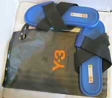 Y-3 Yohji Yamamoto Adidas Flip Flop Blue Shoes Sandals with carry bag 11M Italy