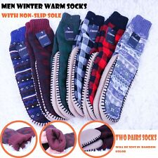 2 Pairs Womens Thick Fur Bed Socks Home for Non Slip Fluffy Winter Warm
