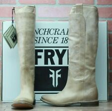 Frye Leather Paige Tall Riding Boots Tan New With Box 77534 Size 6.5 M
