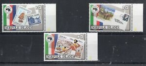 NORFOLK ISLAND STAMPS  1984 AUSPEX SG 343/5 MINT NEVER HINGED